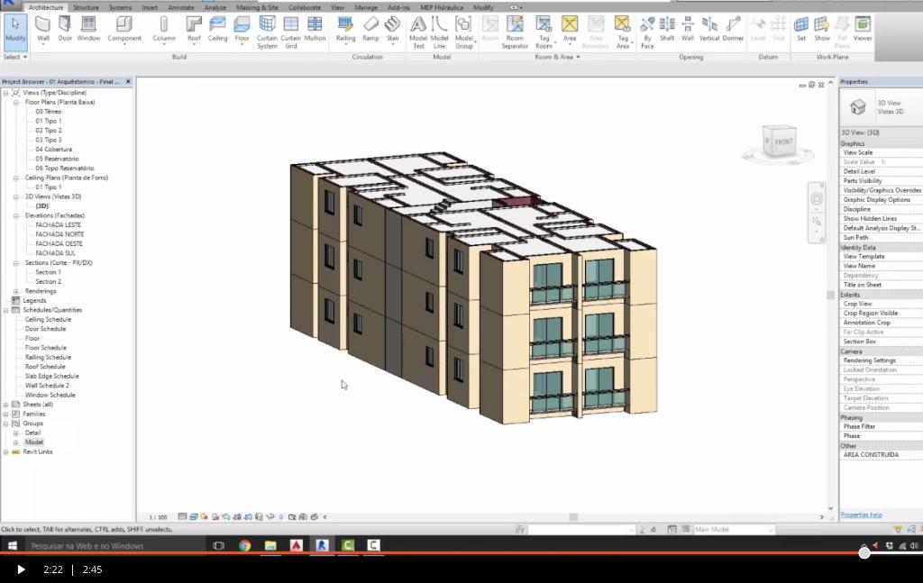 Modelando Arquitetura e Estrutura em BIM