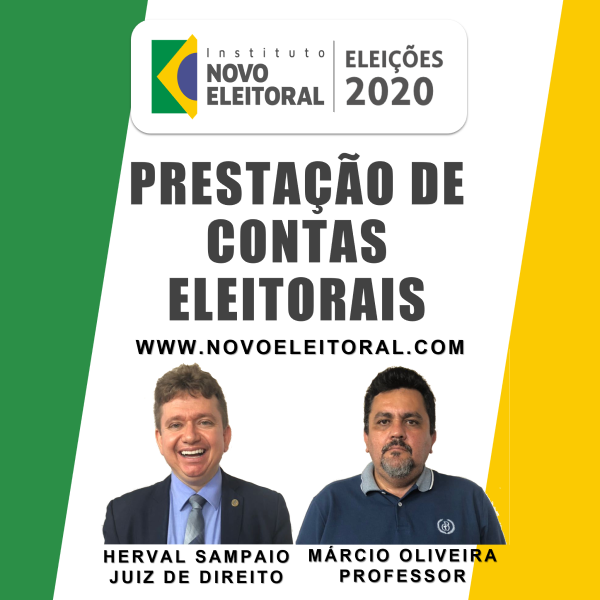 Eleições 2020: Prestação de Contas Eleitorais - Instituto Novo Eleitoral -  learn a new skill - Online Courses and Subscription Services | Hotmart
